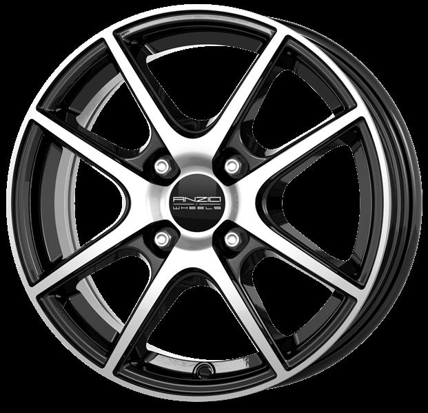 Felgi Aluminiowe 14 Anzio Split 4x100 55x14 Et35 Diamond Black