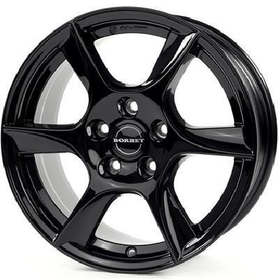 Felgi Aluminiowe 14 Borbet Tl 5x100 5x14 Et35 Black Glossy