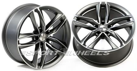 GMP ITALIA ATOM 5x112 8.5x19 ET35 MATT ANTHRACITE DIAMOND