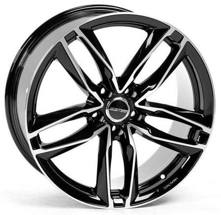 GMP ITALIA ATOM 5x112 8.5x19 ET35 MATT BLACK DIAMOND