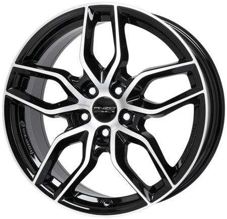 FELGI ANZIO SPARK 5x112 7.5x17 ET47.5 Diamond Black Front Polished