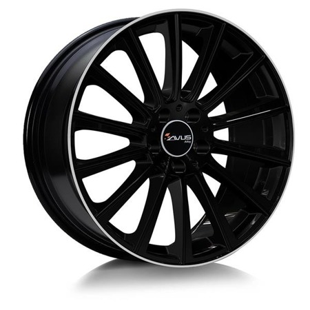 FELGI AVUS AC-M07 5x112 8x18 ET35 BLACK POLISHED LIP