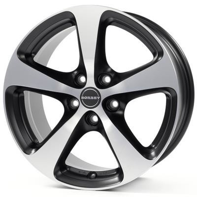 FELGI BORBET CC 5x108 7x16 ET35 Black Polished Matt