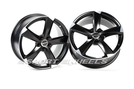 GMP ITALIA ICAN 5x112 7.5x17 ET28 SATIN BLACK DIAMOND