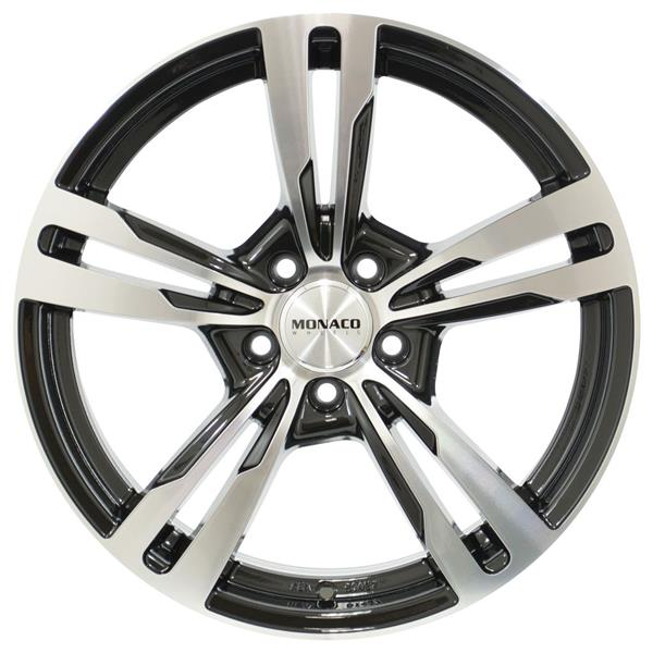 MONACO GP4 5x112 8.5x20 ET35 Gloss Black Polished