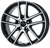 FELGI ANZIO SPLIT 5x108 8x18 ET45 Diamond Black Front Polished